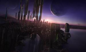 Futuristic city by Crystalshock