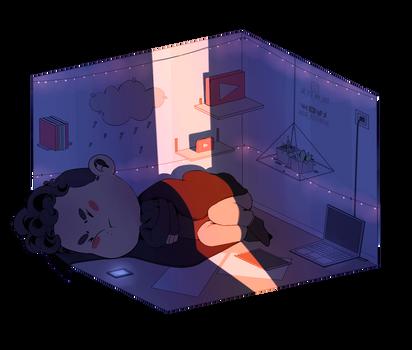 Sleepy sad Dan by Julia-Kisteneva