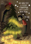 Dan and Phil Christmas card by Julia-Kisteneva