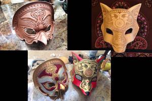 Ornate Leather Masks by b3designsllc
