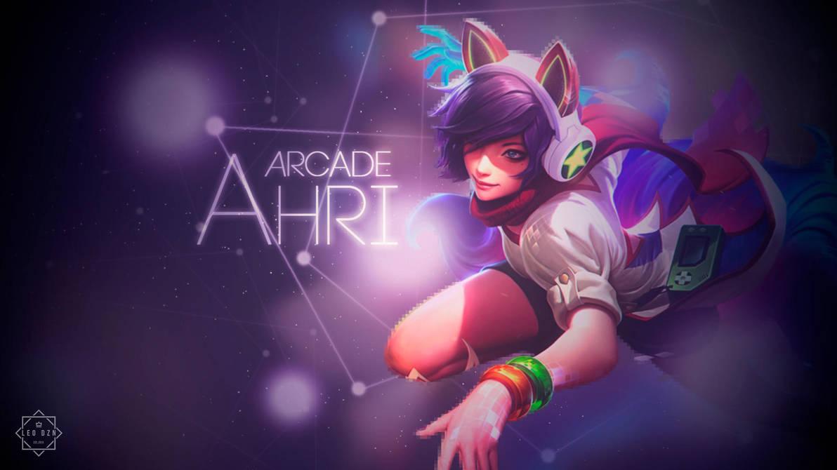 Arcade Ahri Wallpaper2 By Hfxkenji On Deviantart