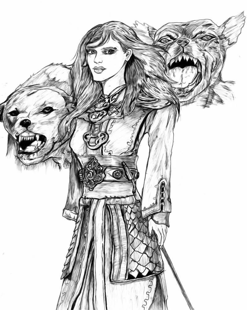 Hounds of Lady Rymanack by ARNOLDXYZ