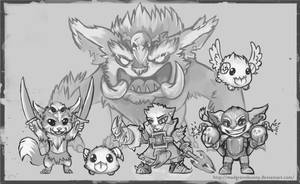 Yordles Doodle - 1 by HummingHare