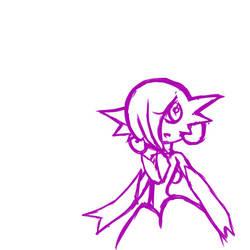 Mega Gardevoir doodle by HeavenlySatanic