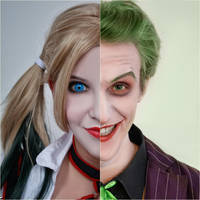 Harley Quinn (Arkham Knight) and Joker 13 by ThePuddins