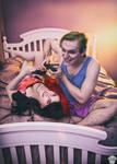 Harley Quinn (N52) and The Joker (B:TAS) by ThePuddins