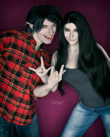 Marceline and Marshall Lee by ThePuddins