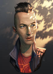 Joe Strummer (the Clash) by cloudintrousers
