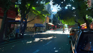 Hanoi street by cloudintrousers