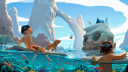 Skull island by cloudintrousers