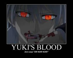 Vampire Knight-Yuki's blood by justanother763