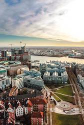 Hamburg Cityscape by Limboking