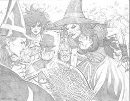 Batman vs witches by JesseDelperdang