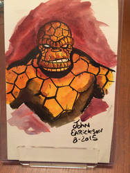 Thing watercolor sketch by genkimon