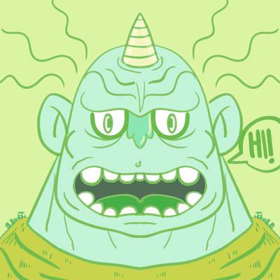 Green ogre by genkimon