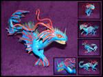 Undyne - dragon sculpture by Blazsek