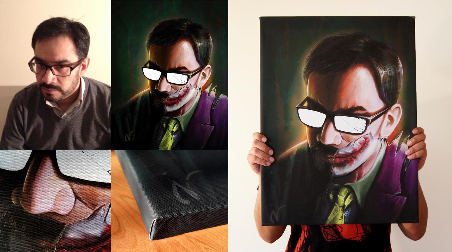 Portrait print The Joker/ALex by Nicoob