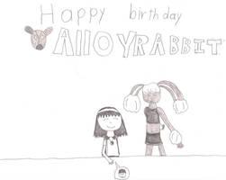 Happy Birthday AlloyRabbit by greenharold