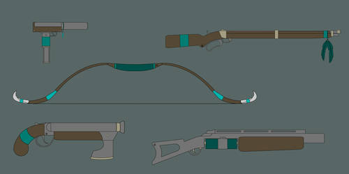 Weapons of the Water Stone Insurgency by PD-Black-Dragon