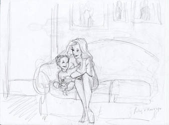Little Harry and Lily by burdge