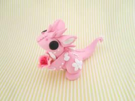Pink Flower Dragon by KriannaCrafts