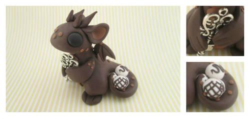 Chocolate Key Keeper Dragon by KriannaCrafts