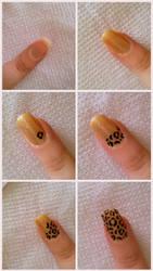 Tutorial: Leopard Nails by KikyBee
