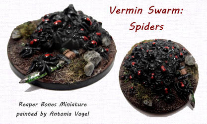 Spider swarm (Reaper Bones) by withclawsandfangs