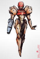 Samus - Yoji Shinkawa Style Attempt by Adam-Gilbert