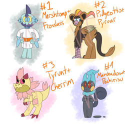 POKEMON FUSION ADOPTS (3/4 OPEN) by WikidFlame