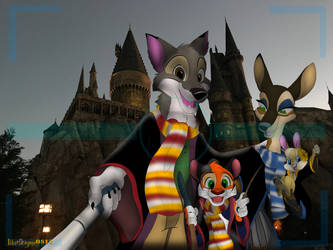 Lupo Family Hogwarts Picture by BlueDragon0812