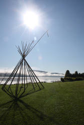Tipi in the Mist by LibbyChisholm
