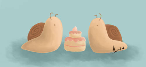 Snails and Cake by theblackcatxox