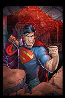 Action Comics Superman by luisdelgado