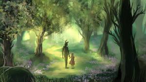 Magical forest by Shagliy