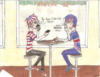 America and Britain by DevilsDarkMessiah
