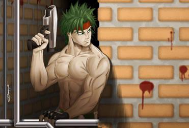 Lurking Hero by daniloaroeira