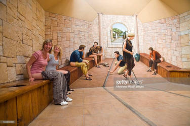 Ladies in Roman latrine toilet by jmarkoff2