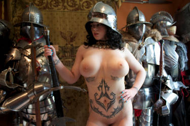 Nude armored girl by HotMedievalBabes