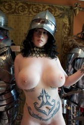 Naked Girl in Gothic Armor by HotMedievalBabes