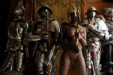 Nude girl with knights 15 by HotMedievalBabes