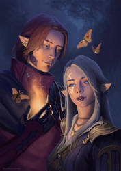 Moth and Flame by RoBs0n