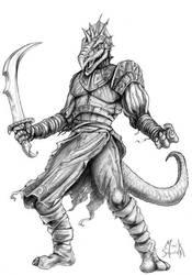 T'skrang Sword Master by Maik-Schmidt