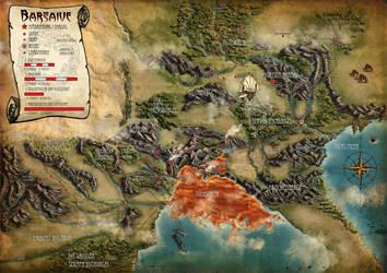 Earthdawn Barsaive Map by Maik-Schmidt