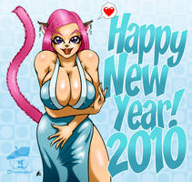 Fumie's 2010 Happy New Year by GraphicBrat