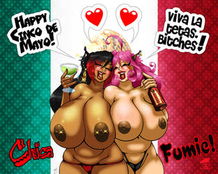 Fumie and Chica's Cinco De Mayo 2014 by GraphicBrat