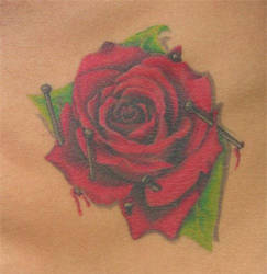 rose tattoo by larryfarley
