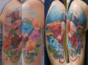 rabbit tattoo by larryfarley
