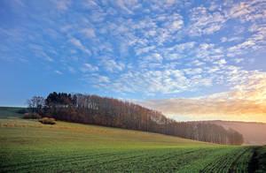 Wintertime landscape, Lippe by zeitspuren