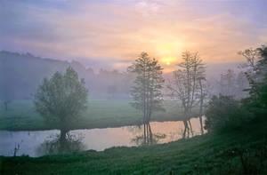 Misty River Morning by zeitspuren